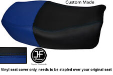 R BLUE BLACK VINYL CUSTOM FOR 91-99 KAWASAKI ZR 750 ZEPHYR DUAL SEAT COVER ONLY