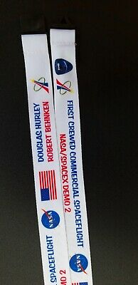 NASA SPACEX DRAGON MISSION LANYARD FIRST CREWED LAUNCH FROM THE USA DM-2