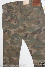 Ralph Lauren Denim and Supply Army Camo Green Denim Jeans   32 x 30