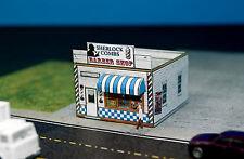 Sherlock Combs Barber shop & Quartet N Scale Building DIY Paper Cutout Kit