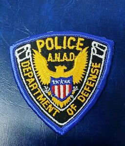 ANAD ANNISTON ARMY DEPOT DEPARTMENT OF DEFENSE POLICE (SMALL) PATCH