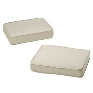 Rolston 2 Piece Outdoor Ottoman Replacement Cushion Set
