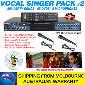 VOCAL-SINGER-MP4000-KARAOKE-MACHINE-289-PARTY-SONG-PACK-2-MICS-BLUETOOTH
