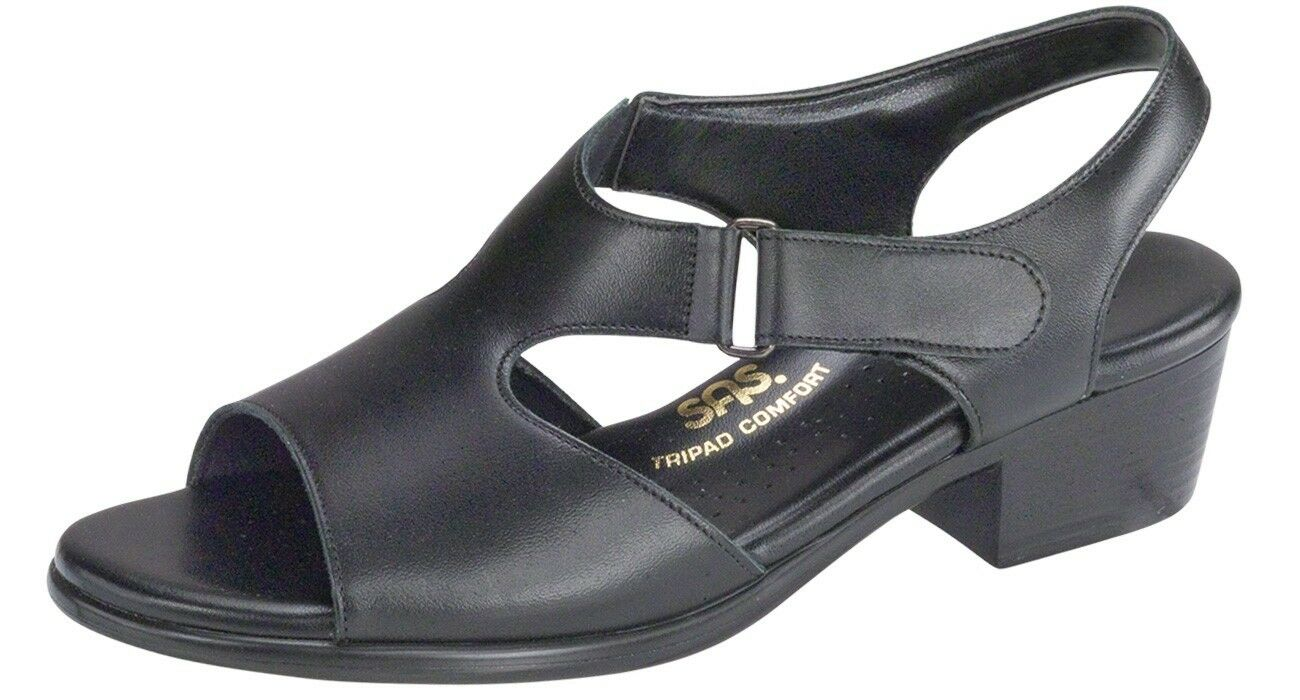 SAS Suntimer Wide nero 1890-013 W Comfort Sandals - MADE MADE MADE IN US dfe17f