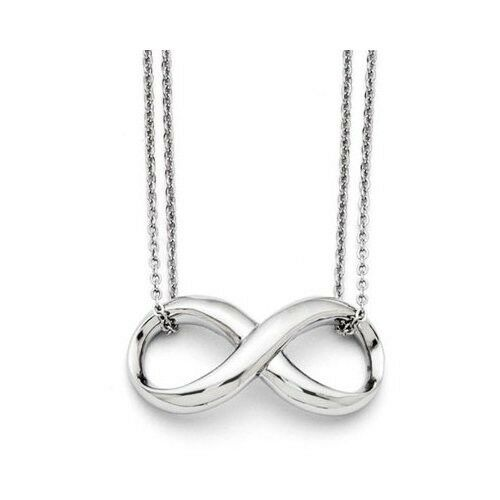 Apples of Gold Double Strand Stainless Steel Infinity Necklace