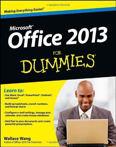1 of 1 - Office 2013 For Dummies by Wang, Wallace 1118497155 The Cheap Fast Free Post