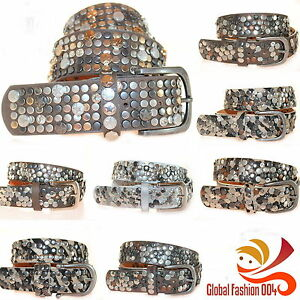 Cinturon-Remaches-De-Mujer-Cuero-Estras-in-80-85-90-95-100-NUEVO
