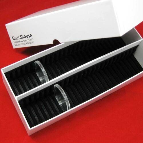 1 Storage Box for 50 Ring Type Silver Rounds Airtite Coin Capsules #16 xlg