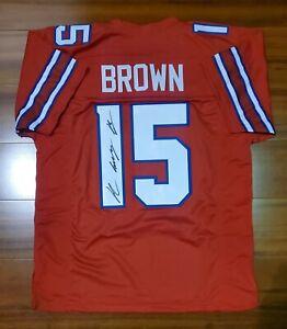 Details about John Brown Autographed Signed Jersey Buffalo Bills JSA