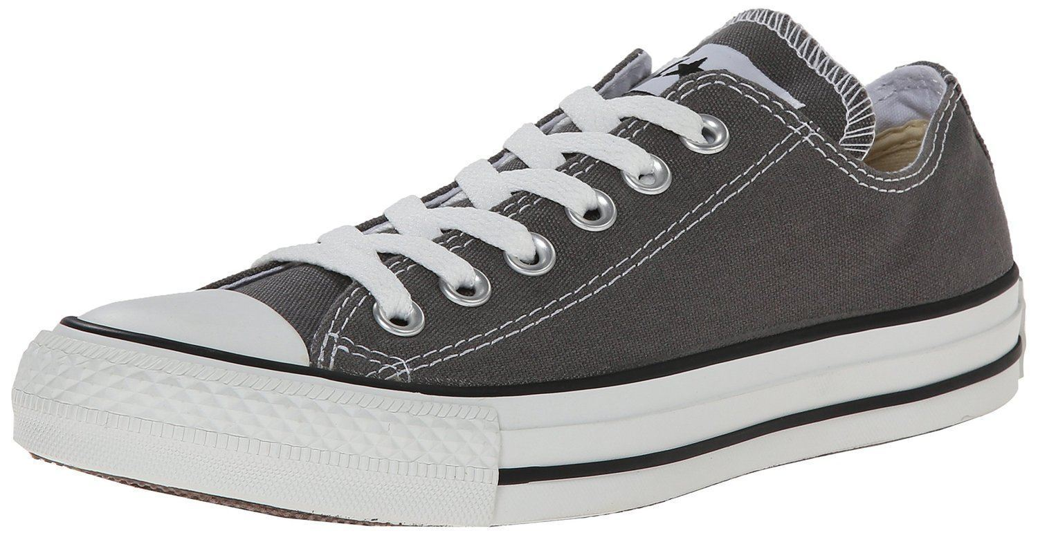 Converse Chuck Taylor All Star Charcoal white Ox Lo Unisex Baskets shoes