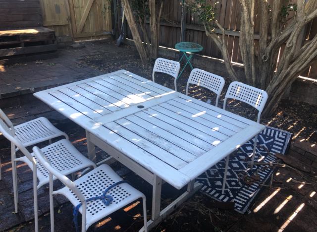 Teak Wood Outdoor Dining Table For Sale Online Ebay