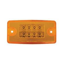 5 Freightliner Rectangular Spyder Cab Marker Lights Amber LEDs and Amber Lens