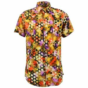 Originals Uomo Fantasia Pois A Fit Retro Da Loud Slim Arancione Camicia tPCFqwp