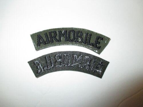 b7429 US Army Vietnam tab Airmobile OD Subdued IR37B