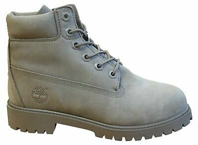 Timberland 6 Inch Premium Junior/'s Gray Lace-Up Leather Shoes A172F-T