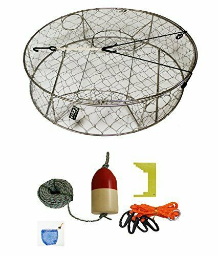 KUFA Stainless Steel Crab Trap with Zinc Anode & Accessory Kit  CT100+CAQ3+ZIN1