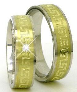 Eheringe-Trauringe-Partnerringe-585-Gold-Gelb-amp-Weissgold-Bicolor-Massiv-14-Kt