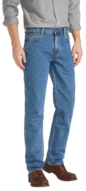 Herren Wrangler Texas Vintage Reguläre Reguläre Reguläre Passform Gerades Bein Markiert Jeans 9ec156