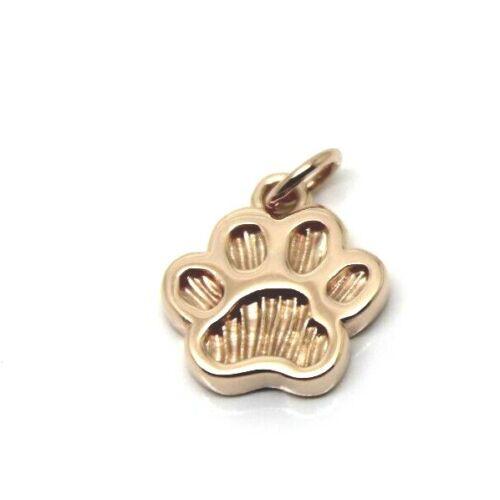 KAEDESIGNS,Genuine 9ct Yellow or Rose or White Gold charm Dog Animal PAW Pendant
