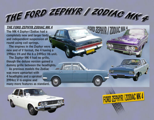 ZODIAC MK4 CLASSIC CAR MOUSE MAT LIMITED EDITION BRAND NEW 2015 FORD ZEPHYR