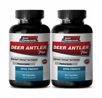 Male Stamina Pills - Deer Antler Plus 550mg - Supreme Fat Burner Capsules 2b
