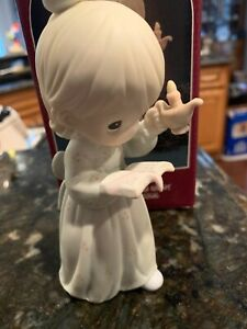 Precious Moments Figurine, #523836, Once Upon A Holy Night, Flame Mark, 1990