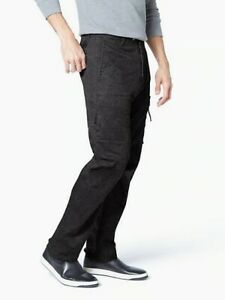 Dockers Para Hombre Pantalones Tipo Cargo Sarga Urbano Alpha Impresion Negro Tamano 34x30 Ebay