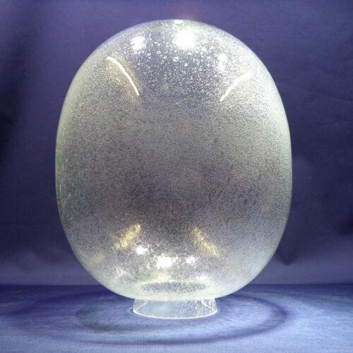 """Kragen Ø 80mm Blasenglas Ersatzglas Kugel /""""Oval/"""" für Außenleuchten Ø220//270mm"""