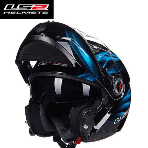 LS2 FF370 Flip Up Motorcycle Helmet Sun Shield Inner Lens Modular Auto Helmets