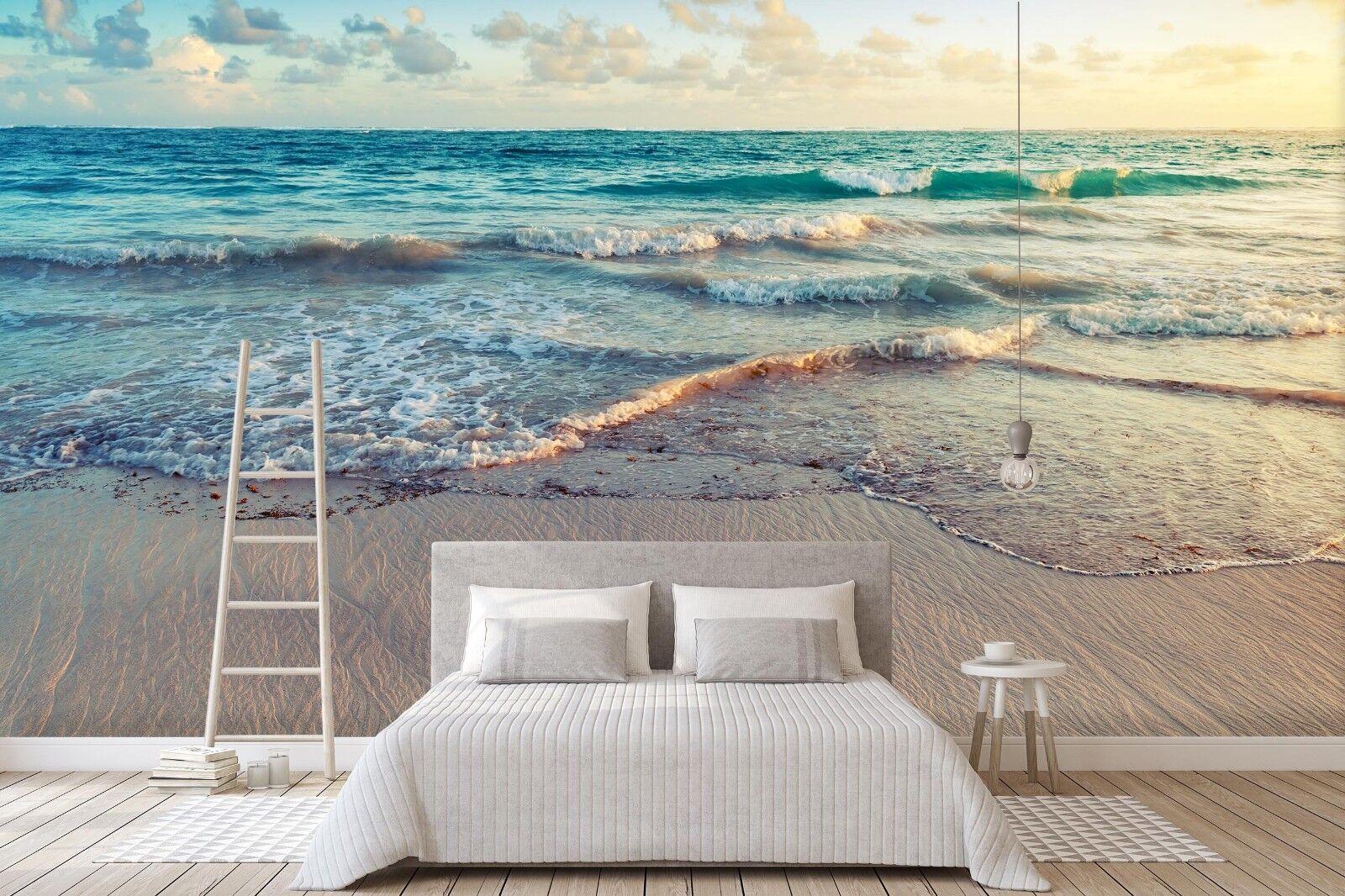 3D Beach Waves 7118 Wall Paper Murals Wall Print Wall Wallpaper Mural AU Summer