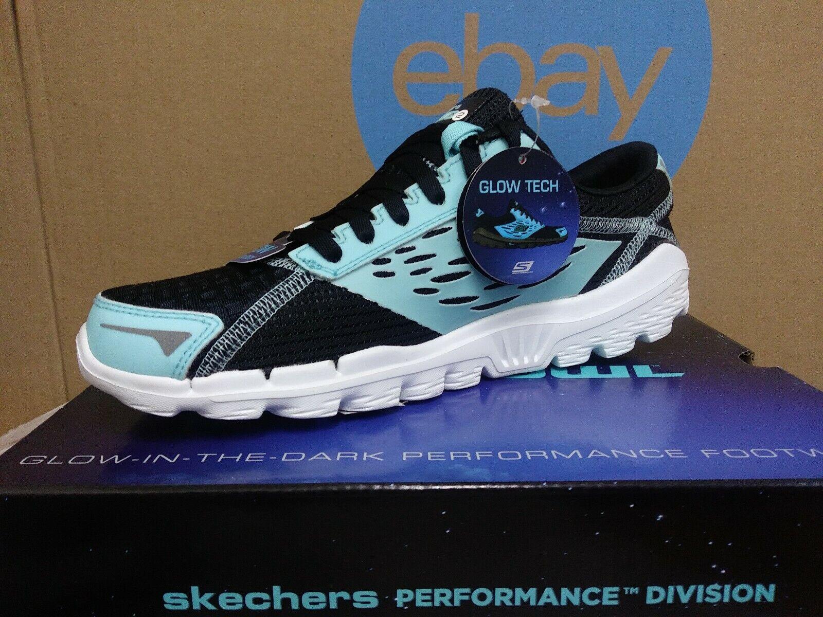 NIB Nuovi Skchers Rari OWL Men Running scarpe Dimensione 7  nero Aqua Glow in the Dark E3  punto vendita