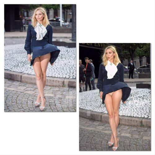 Elizabeth Olsen 4x6 Set of 2 photos blown In The Wind