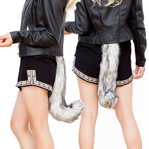Halloween Unisex Wolf Lowrie Tail 50 cm Length Animal Cosplay Fancy Dress Props