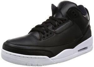 info for cd623 6f894 Das Bild wird geladen Nike-Air-Jordan-3-Retro-Black-Schwarz-Gr-