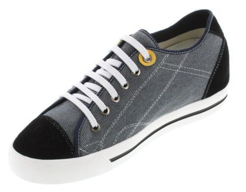 TOTO L08101-2.4 Inches Elevator Height Increase Sneaker Grey /& Black Canvas