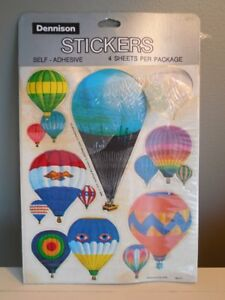 Image Is Loading RARE Vintage HOT AIR BALLOONS Dennison STICKERS 1978