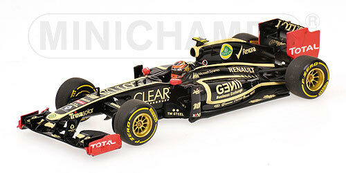 MINICHAMPS 410 120080 Lotus renault F1 model car R Grosjean 2012 Ltd 1 43rd