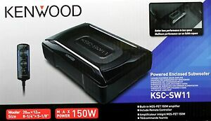 kenwood ksc sw11 8 1 4 x 5 1 8 150 w powered enclosed. Black Bedroom Furniture Sets. Home Design Ideas