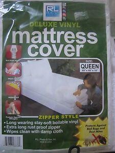 Rl Plastic Deluxe Vinyl Mattress Cover Zipper Style Twin