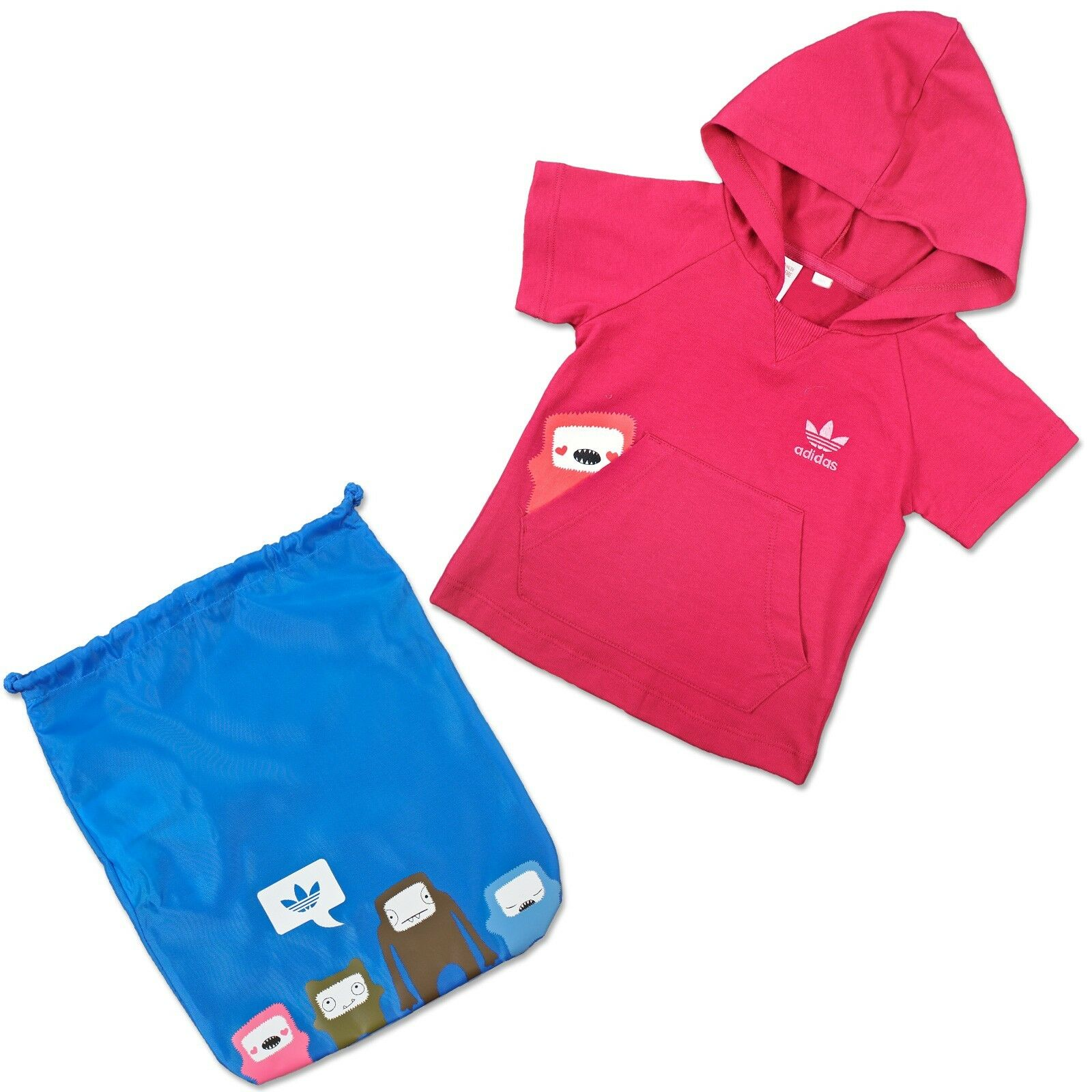ADIDAS ORIGINALS ENFANTS ENSEMBLE T-shirt + pochette Monstre Hoodie Sac Coffret Cadeau