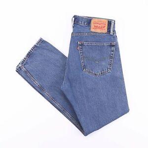 Vintage-Levi-039-s-505-REGULAR-STRAIGHT-FIT-MEN-039-S-BLUE-JEANS-W34-L32