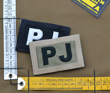 "Ricamata / Embroidered Patch Reversible ""PJ"" with VELCRO® brand hook"