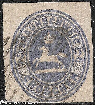 Braunschweig MiNr. 19 ° Altdeutschland Marke mit Wappen vom BPP Lange geprüft