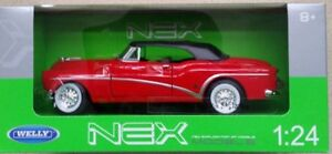 Welly-1-24-Buick-Skylark-1953-Soft-Top-Red-Classic-Metal-Model-Car