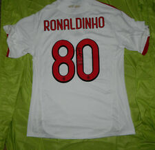 New AUTHENTIC Adidas BWIN AC Milan Ronaldinho #80 Jersey AUTOGRAPHED Size XL