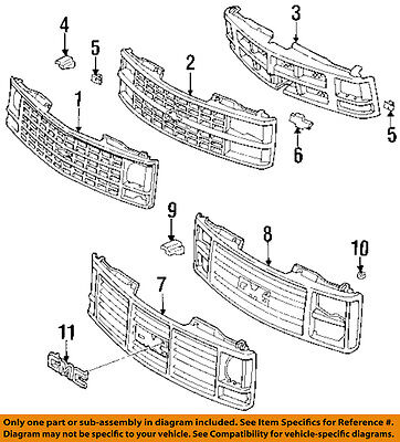 GM OEM-Grille Grill 15615110