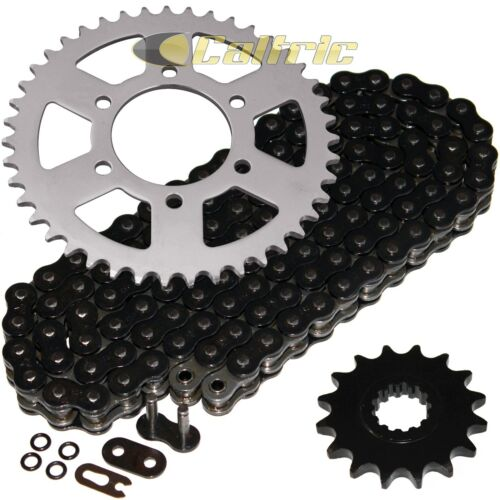 Black O-Ring Drive Chain /& Sprockets Kit Fits KAWASAKI ZX-6R ZX-6RR Ninja 05 06