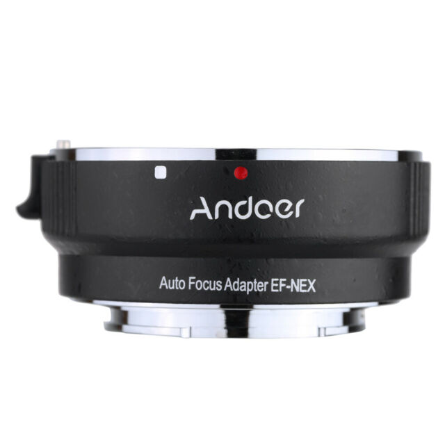 Andoer Auto Focus AF EF-NEXII Adapter Ring for Canon EF EF-S Lens to use A7F1