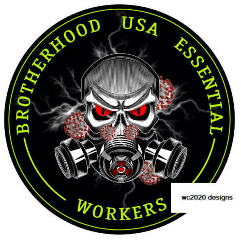 2 pack Essential Worker Round Oval Sticker Decal BrotherHood Essential Workers