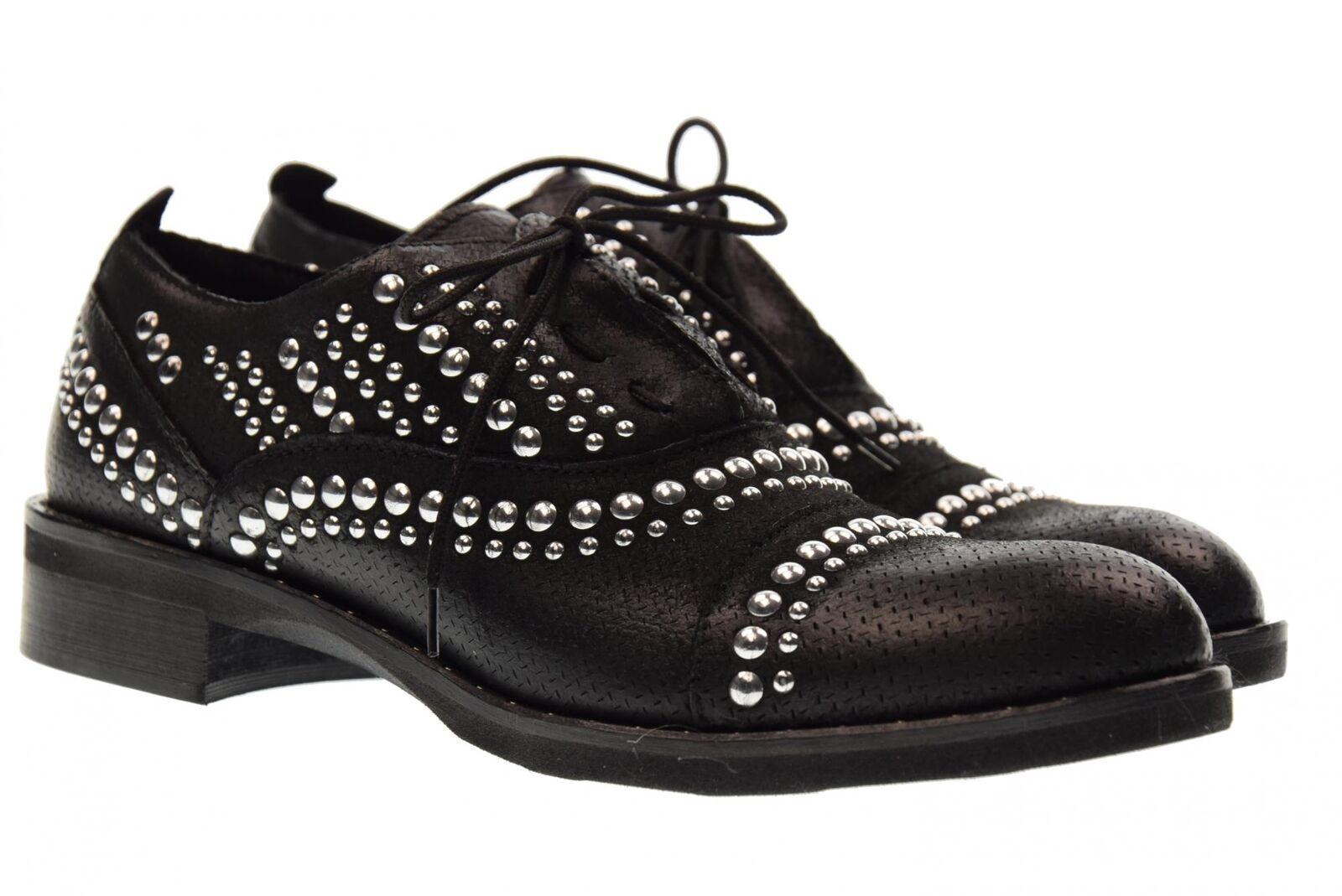 Erman's NERO scarpe donna stringate 125 NERO Erman's P18 59703e